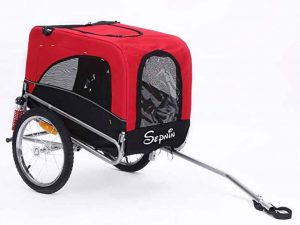 sepnine dog bike trailer
