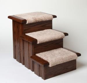wooden dog steps