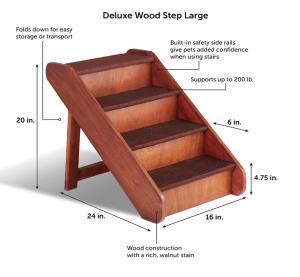 solvit wooden dog steps